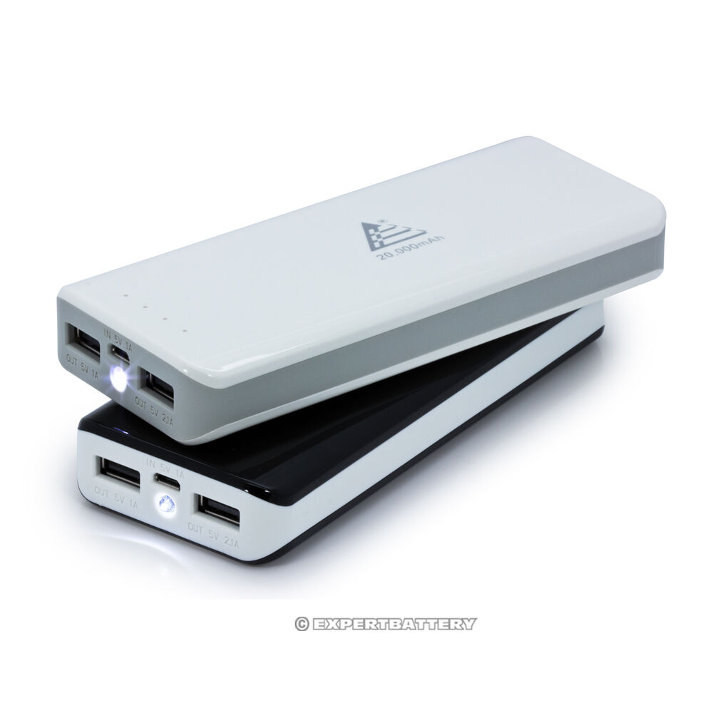 20000mah portable rechargeable power bank battery charger
