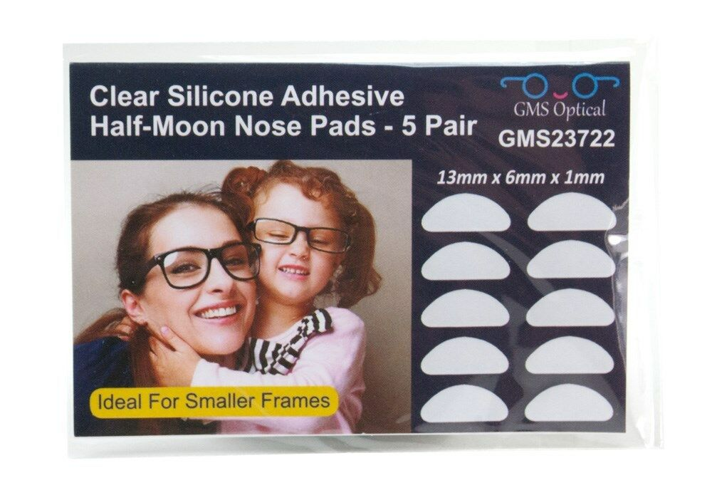 GMS Optical 3M Adhesive Silicone Nose Pads for Eyeglasses - Clear ...
