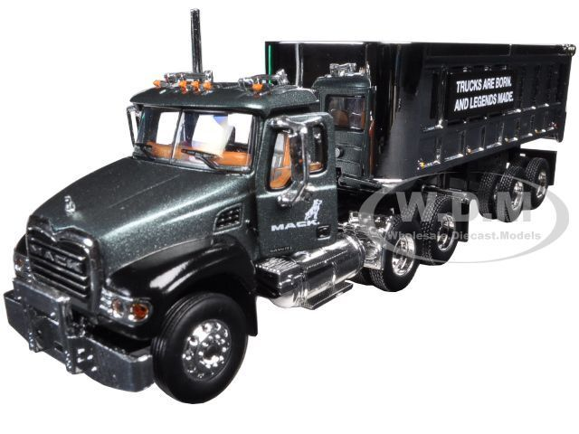 MACK GRANITE WITH CHROME 22' END DUMP TRAILER 1/64 FIRST