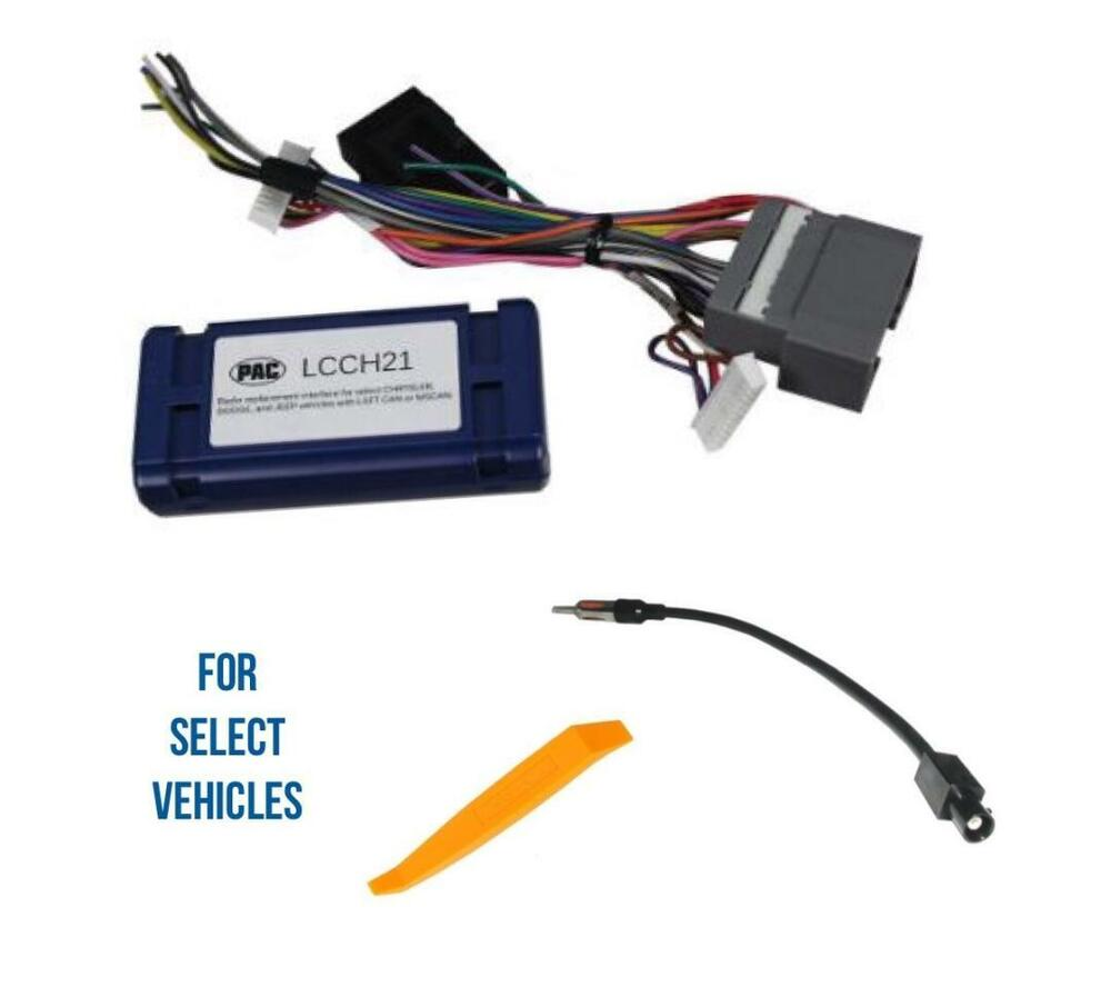 car stereo radio wire harness interface adapter for select