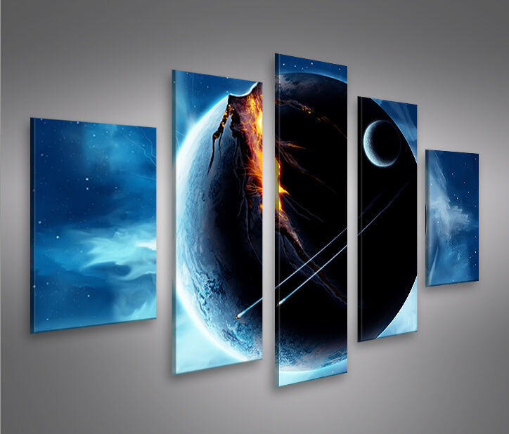 bild auf leinwand wars v5 bild wandbild poster kunstdruck ebay. Black Bedroom Furniture Sets. Home Design Ideas