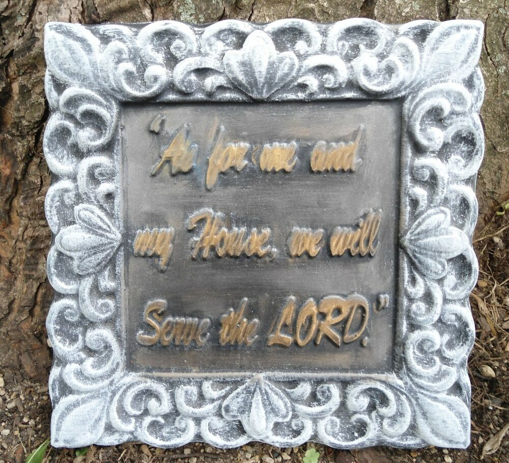 plastic religious plaque mold plaster concrete mould as for me and my house ebay. Black Bedroom Furniture Sets. Home Design Ideas