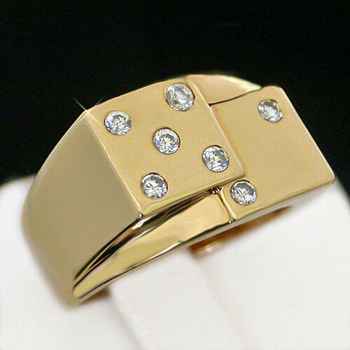 Saved By The Bell Wedding In Las Vegas Watch Online: Men's 14k GOLD Layered Las Vegas Lucky DICE Casino Ring