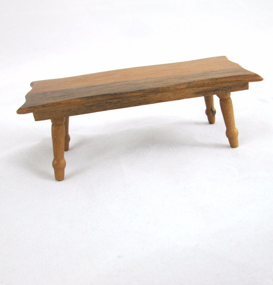 Vintage 1970s Dollhouse Large Wood Coffee Table Turned Legs Shaped Top Ebay