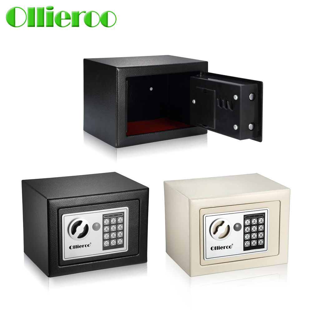 ollieroo small digital electronic safe box keypad lock home office hotel gun ebay. Black Bedroom Furniture Sets. Home Design Ideas