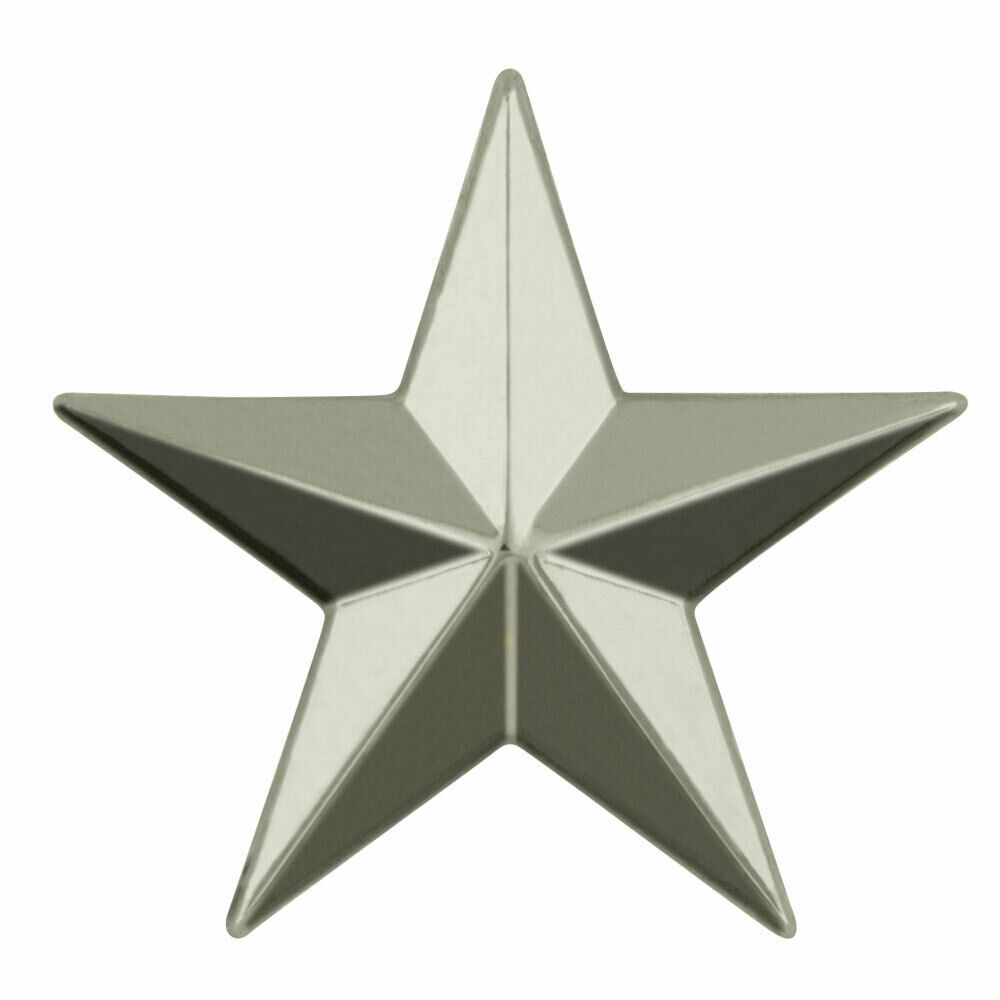3d 5 point silver star lapel pin ebay