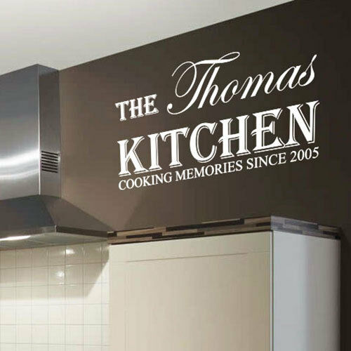Personalized Kitchen Name Art Wall Sticker Quotes, Wall