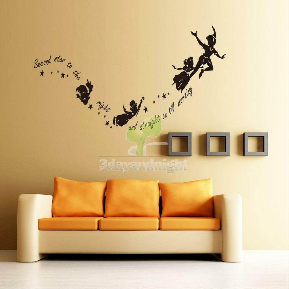 Wall stickers decal peter pan fairy vinyl mural home Wall stickers for bedrooms