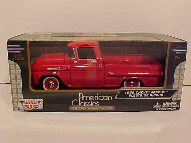 1958 Chevy Apache Fleetside Truck Die-cast 1:24 by ...