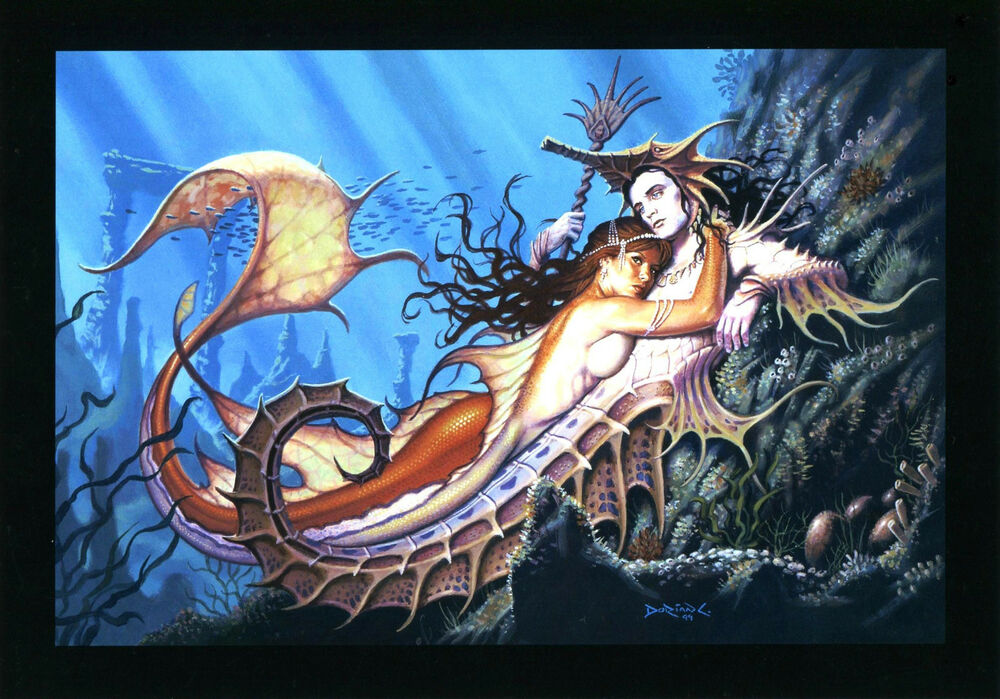 By Dorian Graphics By Doriangraphic: SECRET OF THE SEA PRINT SIGNED BY ARTIST DORIAN CLEAVENGER
