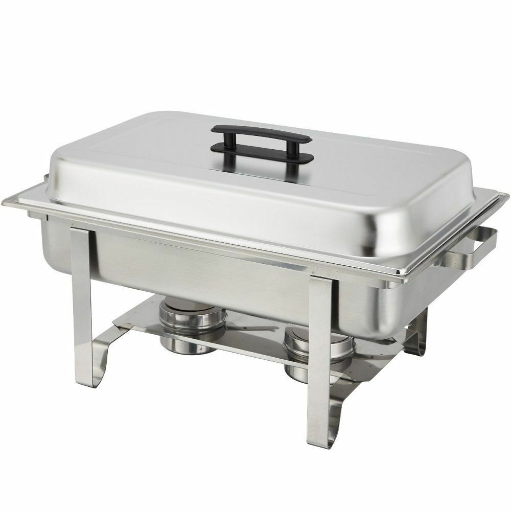stainless steel chafer 8 qt chafing dish server party buffet serve food warmer ebay. Black Bedroom Furniture Sets. Home Design Ideas