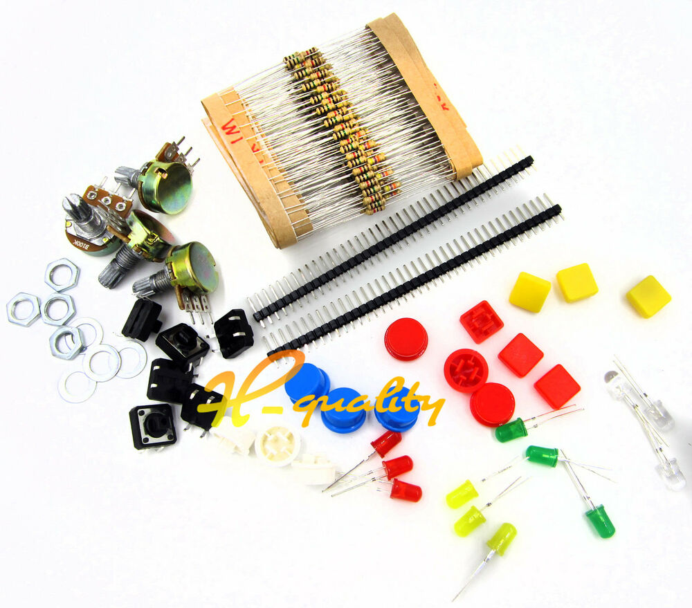 Electronic Component Parts : Electronic parts pack kit for arduino component resistors