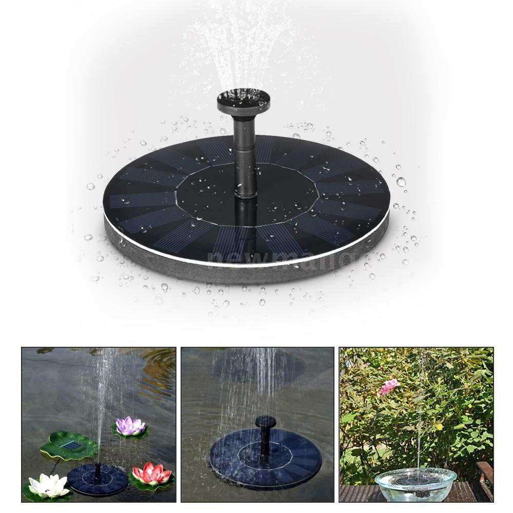 Solar water panel power fountain pump kit garden pond for Garden pool fountains