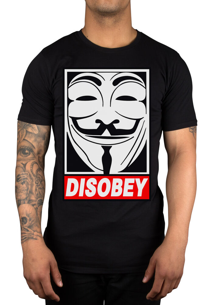 Disobey Mask T-Shirt V For Vendetta Face Dope Clothing ...
