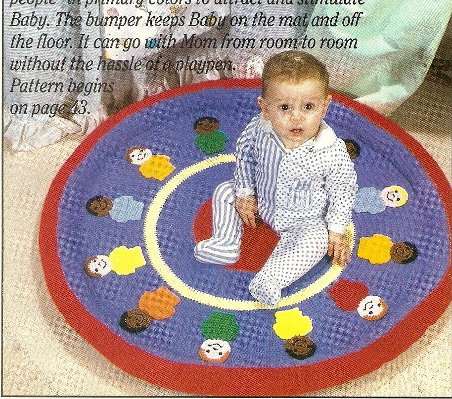 Fun Baby Play Mat Crochet Pattern Instructions Only Ebay