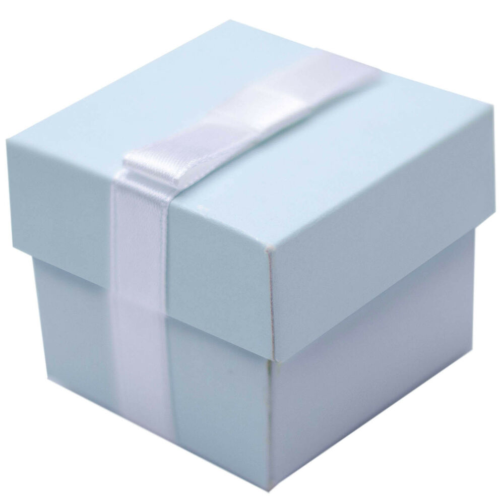 Celebrate It Occasions Favor Boxes With Lids Instructions : Elegant baby blue christening wedding party gift favour