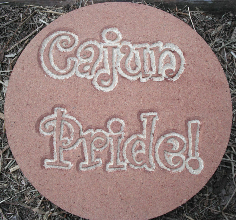cajun pride plaque plastic mold plaster concrete mould ebay. Black Bedroom Furniture Sets. Home Design Ideas