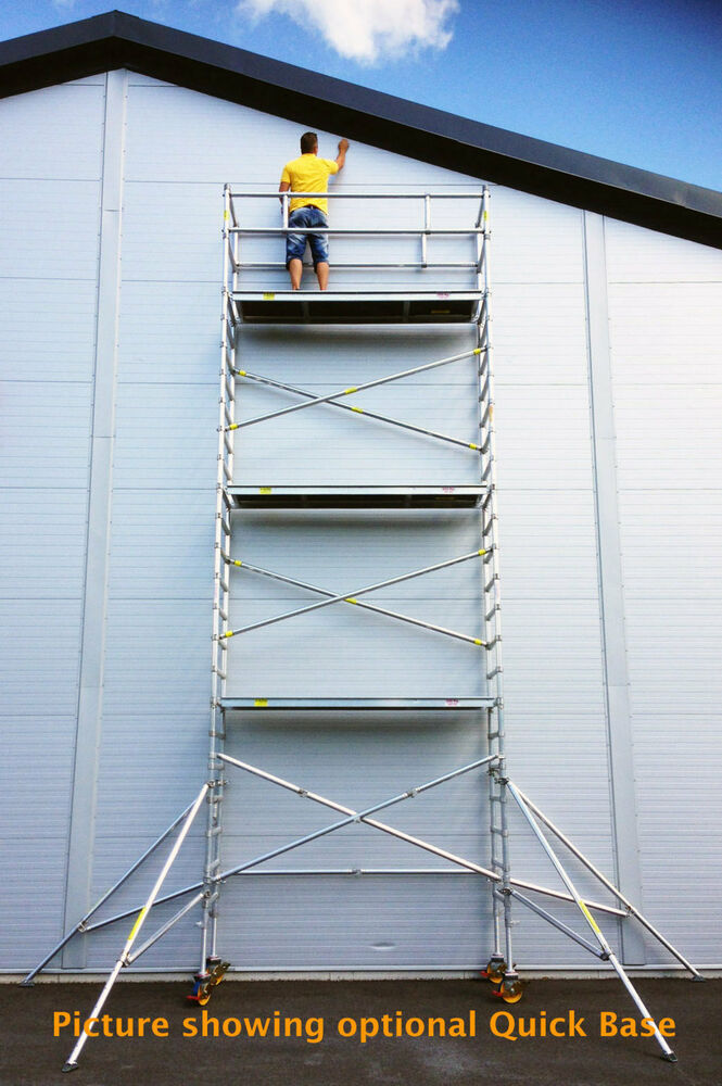 Aluminum Scaffold Tower : Scaffold usa ft single wide aluminum mobile