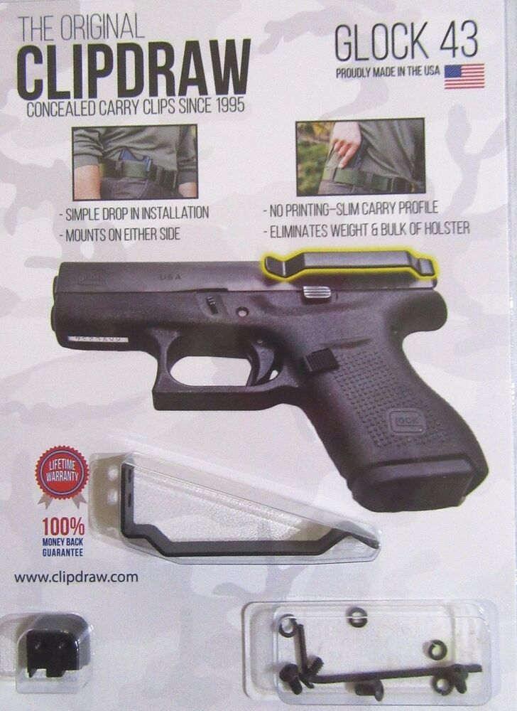43 Best Images About Nails On Pinterest: Clipdraw IWB Belt Clip For Glock 43 Concealed Carry W/o A