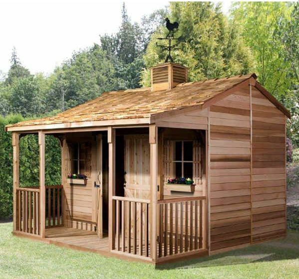 Cedarshed ranchhouse 12x12 shed rh1212 ebay for Garden shed 12x12