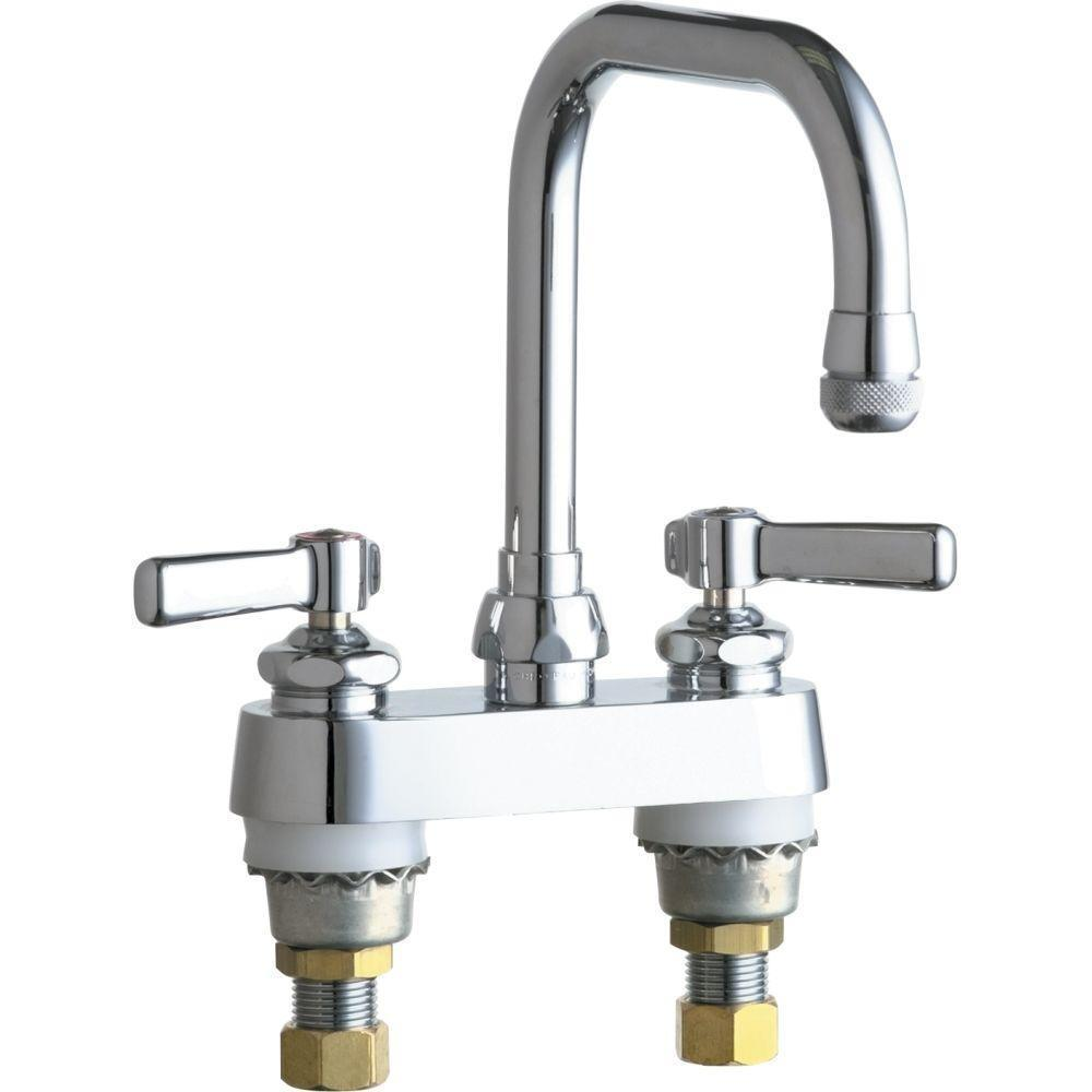 Chicago Faucets 2 Handle Kitchen Faucet In Chrome 6 1 4 In