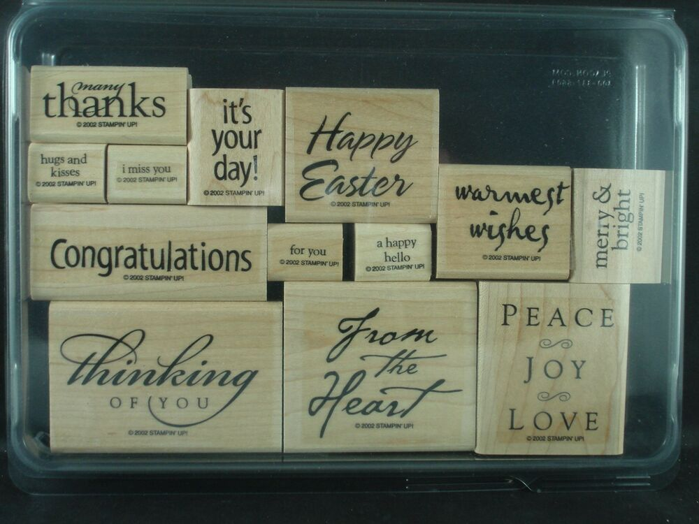 Stampin Up Rubber Stamp Set All Year Cheer 2002 1