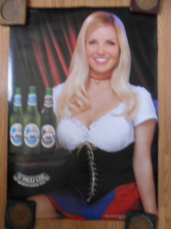 Sexy Girl Beer Poster St Pauli  Brittany Evans 2006 -1340