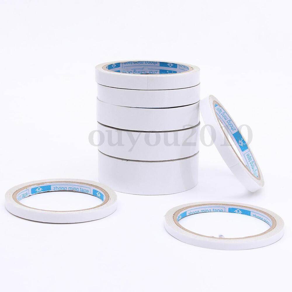 1 Roll 10m Double Sided Adhesive Tape Width 6mm 8mm 10mm