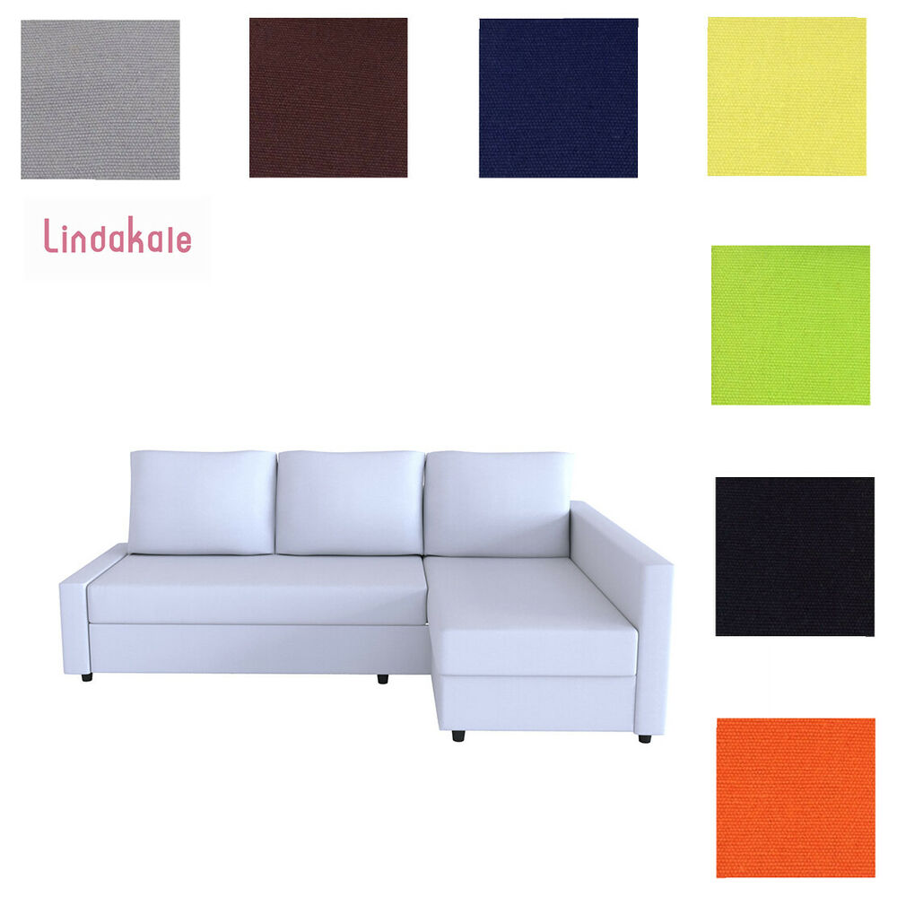 custom made cover fits ikea friheten sofa bed with chaise slipcover ebay. Black Bedroom Furniture Sets. Home Design Ideas