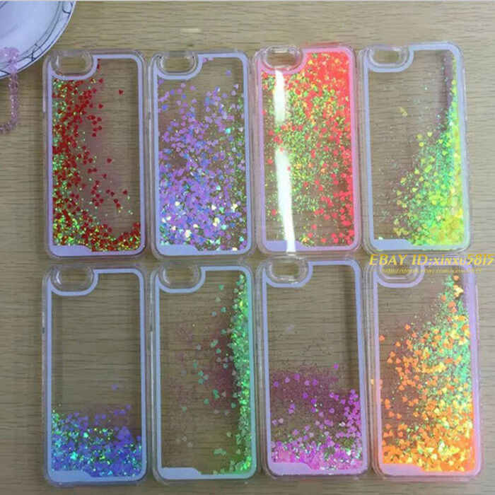 Glitter Liquid Bling Flowing Love Phone Cases Cover For ...