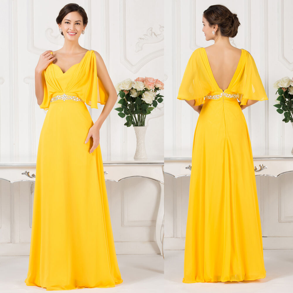 Pregnant woman maternity bridesmaids formal evening party for Yellow wedding dresses for sale