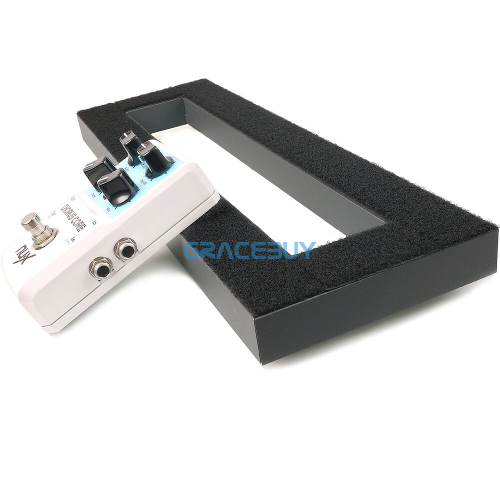 guitar effects pedal board 15 7 x5 1 diy pedalboard adhesive magic tape back ebay. Black Bedroom Furniture Sets. Home Design Ideas