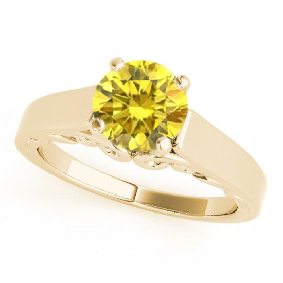 0 5 Carat Yellow Canary Diamond VS2 Beautiful Classy Engagement Ring 14k Gold