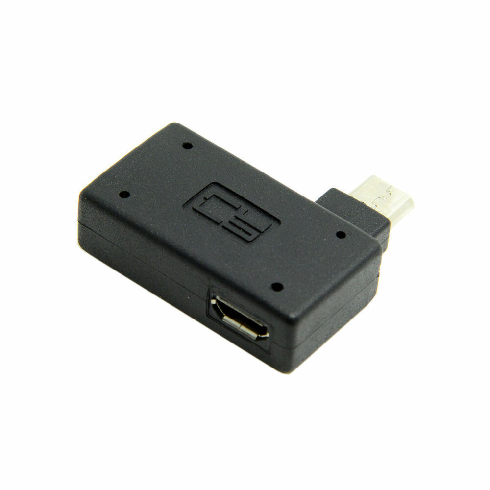 90 Degree Right Angled Micro USB 2.0 OTG Host Adapter With