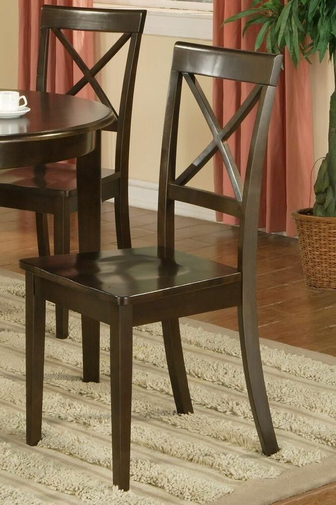 dinette kitchen dining chairs w plain wood seat in cappuccino ebay