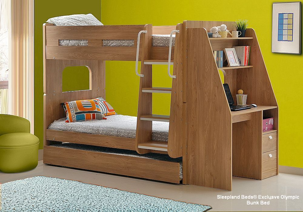 Matrimonio Bed Olympic : Olympic bunk with desk trundle colour choices