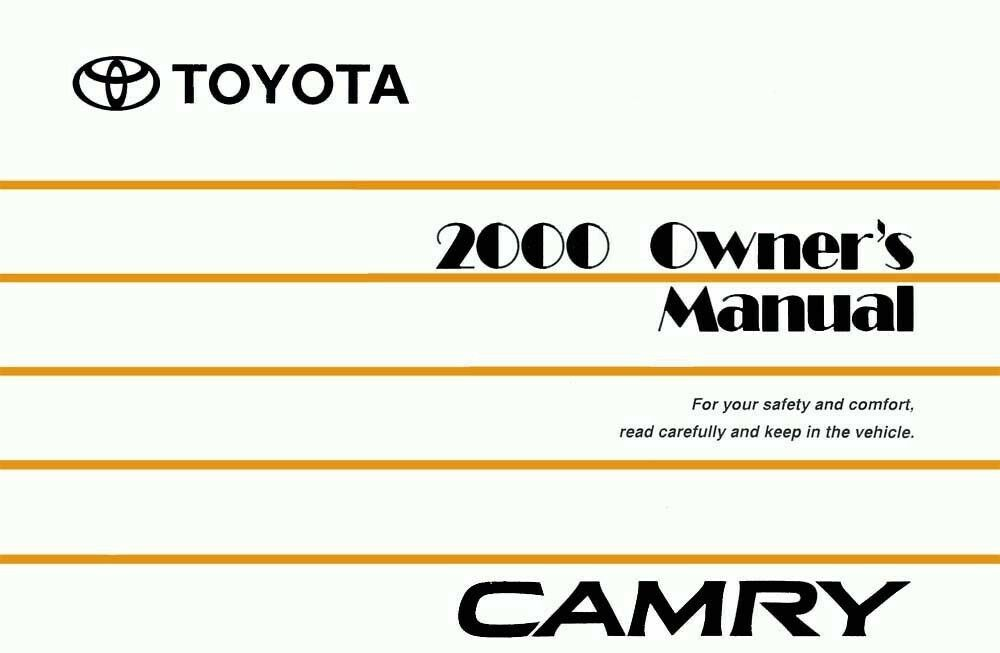 2000 toyota camry owners manual user guide reference operator book ebay. Black Bedroom Furniture Sets. Home Design Ideas