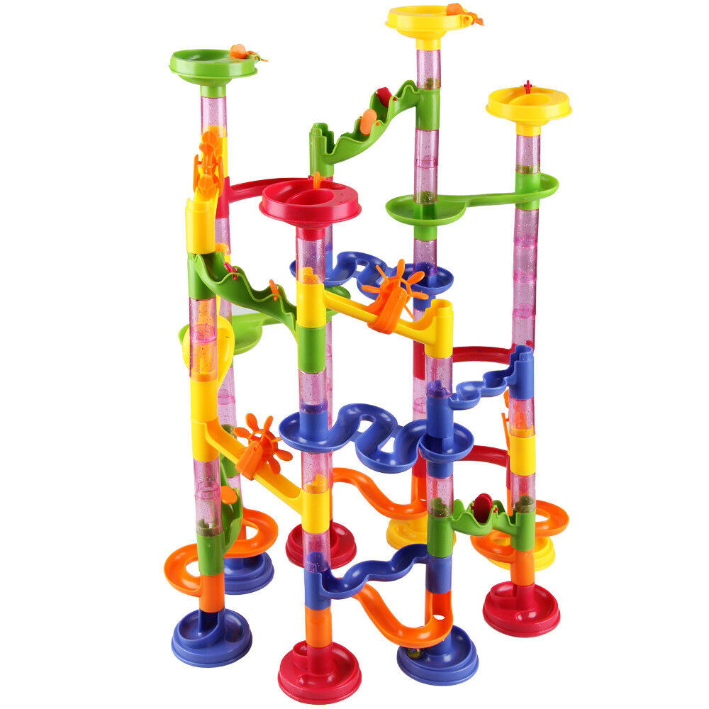 marble run kids large 111pcs track race including 36. Black Bedroom Furniture Sets. Home Design Ideas