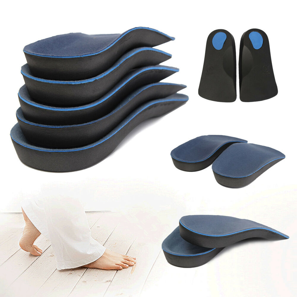 3 4 Orthotic Support Insole Shoe Cushion Pad Mat Arch Flat