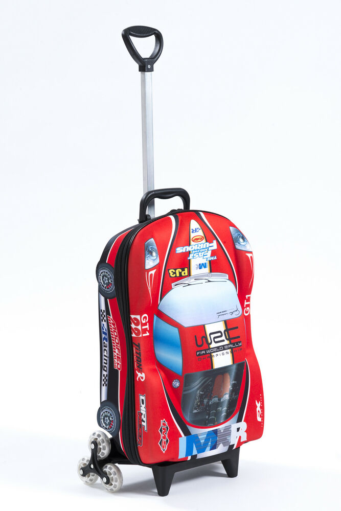Kids Trolley Roller Bag Car 3D Rolling Suitcase Luggage
