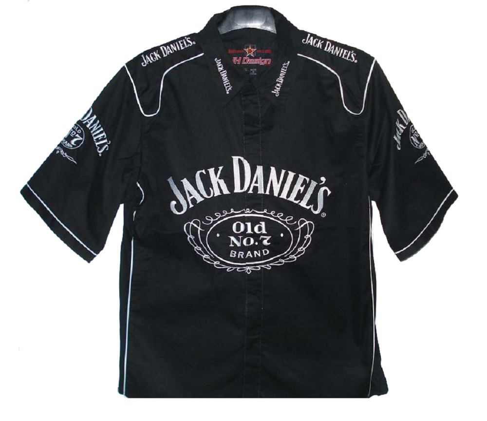 Nascar authentic jack daniels black embroidered pit crew
