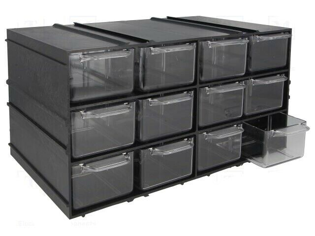 Part Storage For Garages : Set of storage drawers in cabinet ideal for crafts