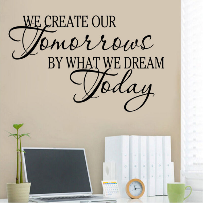 Word Art Home Decor: Quote Word Decal Vinyl DIY Home Room Decor Art Wall
