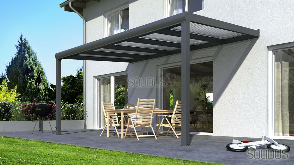 alu terrassen berdachung terrassendach berdachung aluminium carport veranda ebay. Black Bedroom Furniture Sets. Home Design Ideas