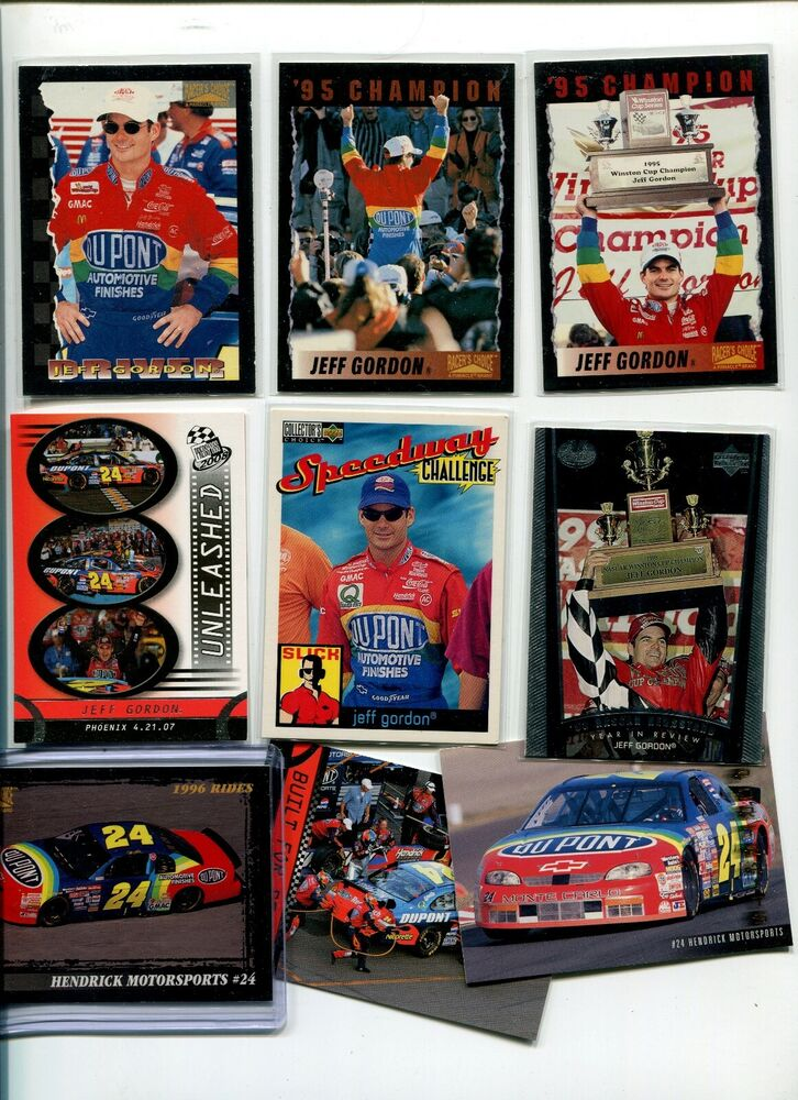 JEFF GORDON 1996 PINNACLE RACERS CHOICE 4 NASCAR CARDS #9