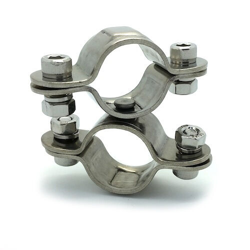Stainless steel aisi swivel double clip clamp mm
