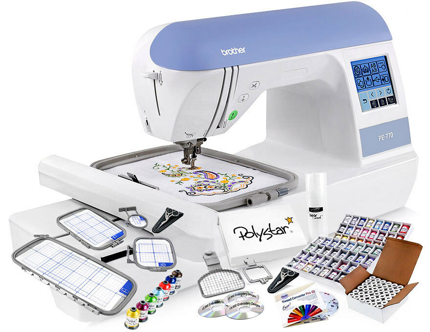 Brother Pe770 Embroidery Machine W Grand Slam Embroidery