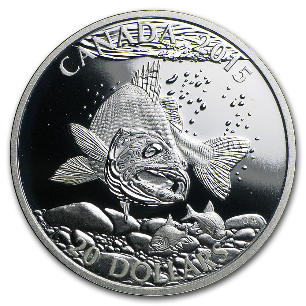 2015 Canada 1 Oz Silver North American Sportfish Walleye