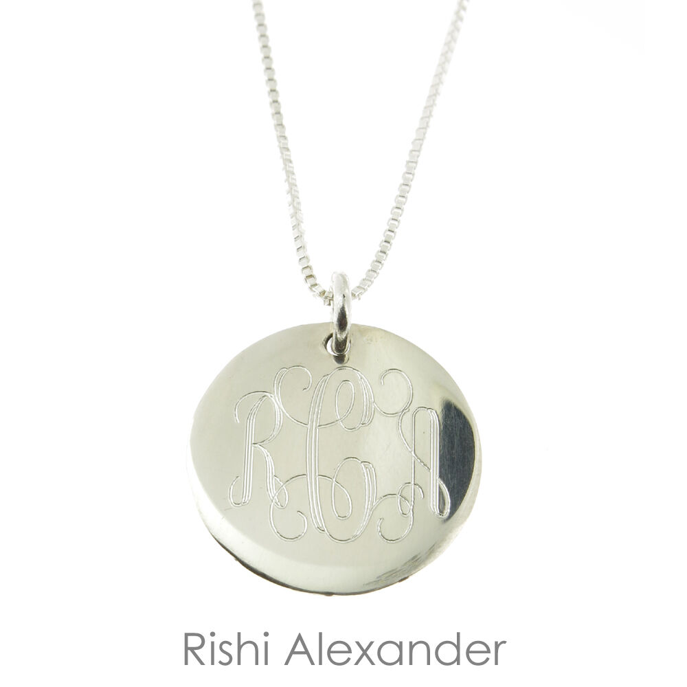 Personalized 18th Birthday Necklace Initial Custom: 925 Sterling Silver Monogrammed Personalized Childrens