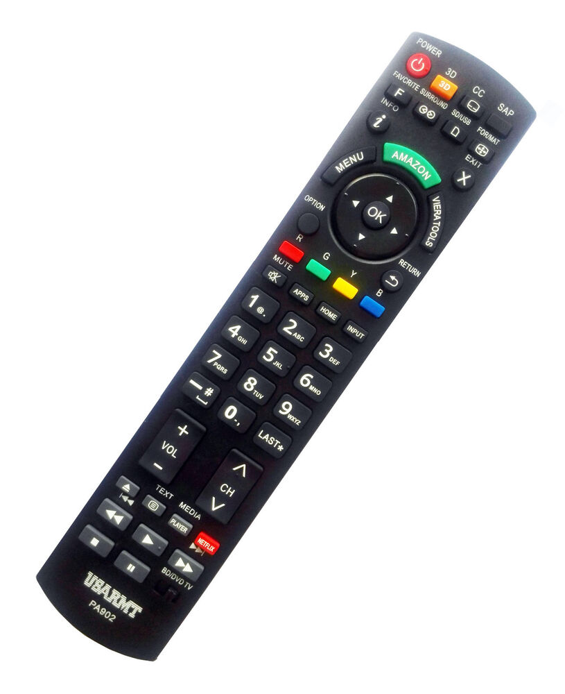 new panasonic tv blu ray player universal remote by usarmt no programming needed ebay. Black Bedroom Furniture Sets. Home Design Ideas